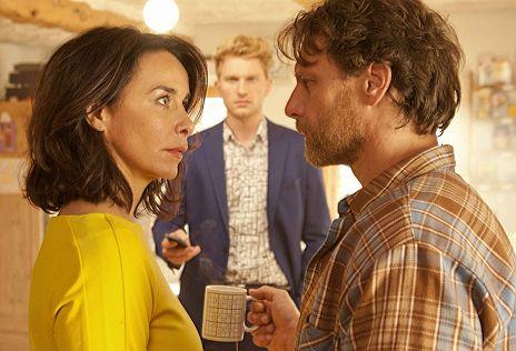 """Lucas Prisor, Katharina M�ller-Elmau. Hendrik Duryn in """"Mein Lover, sein Vater und ich"""""""